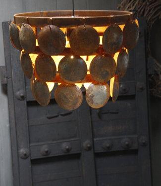 Rene Houtman Plafondlamp ijzeren schijfjes Mura H25xB32 cm