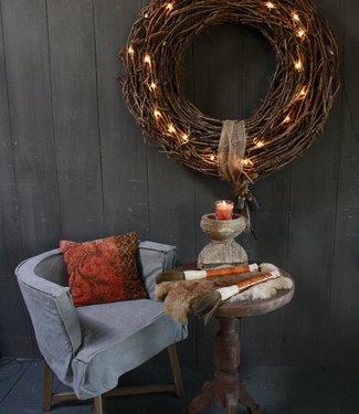 Rene Houtman Kerstkrans 100 cm + verlichting en ornamenten