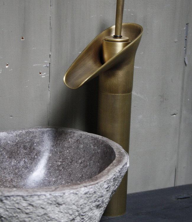 Rene Houtman Watervalkraan Nostalgisch Brons Toilet 31,2 cm