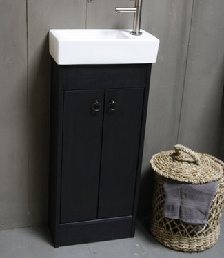 Rene Houtman Landelijk toiletmeubel set - Dark - Keramiek