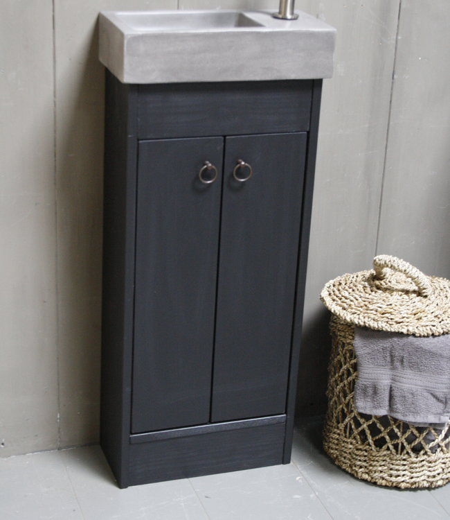 Rene Houtman Landelijk toiletmeubel set - Dark - Grey