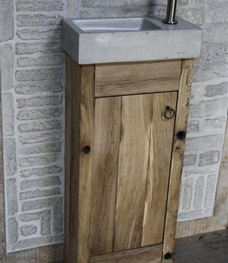 Rene Houtman Toiletmeubel landelijk oud eikenhout geschaafd - 1 deur - 90 cm