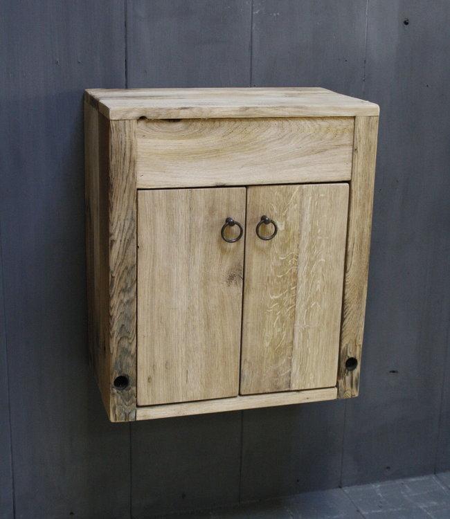 Rene Houtman Landelijk eikenhout Wagondelen Toiletmeubel Zwevend