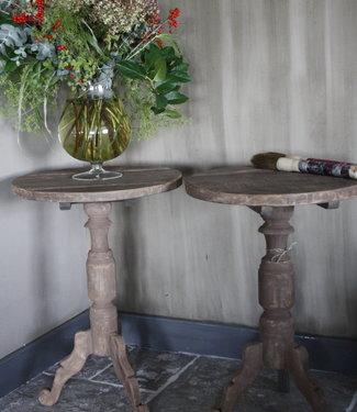 Rene Houtman *Verkocht Wijntafel/Bijzettafel - Oud teak - Set van 2 -