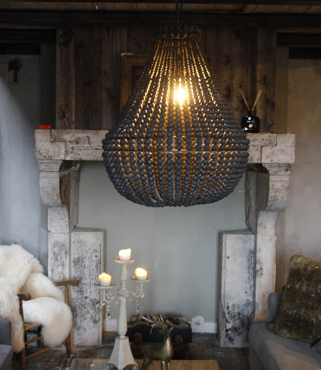 Rene Houtman Hanneke Kralen Hanglamp Zwart 65 cm