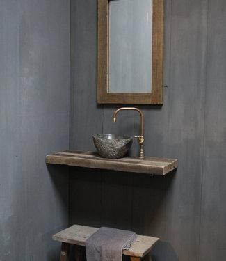 Rene Houtman Toilet Spiegel 75 x 45 cm Oud Teak Hout