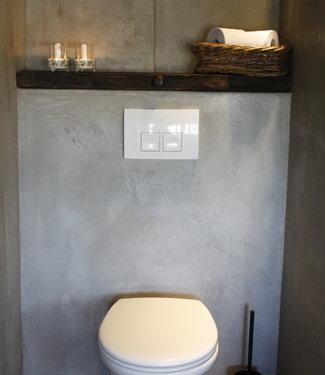 Rene Houtman Toiletplank Planchet Oude Eikenhouten Wagondelen + ijzers