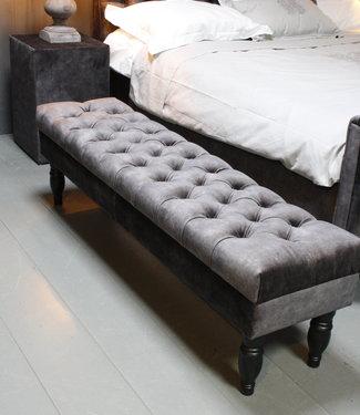 Rene Houtman Bedbankje Gecapitonneerd Adore D.Grey 160 cm
