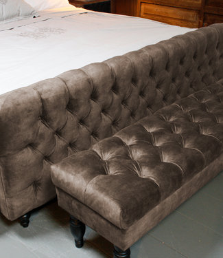 Rene Houtman Bedbankje Gecapitonneerd Adore Liver 160 cm