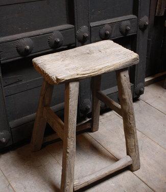 Rene Houtman Oud Houten Krukje | Toiletkruk | H49xD21xL36