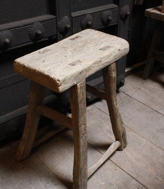 Rene Houtman Oud Houten Krukje | Toiletkruk | H50xD20xL39