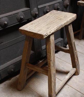 Rene Houtman Oud Houten Krukje | Toiletkruk | H52xD20xL41