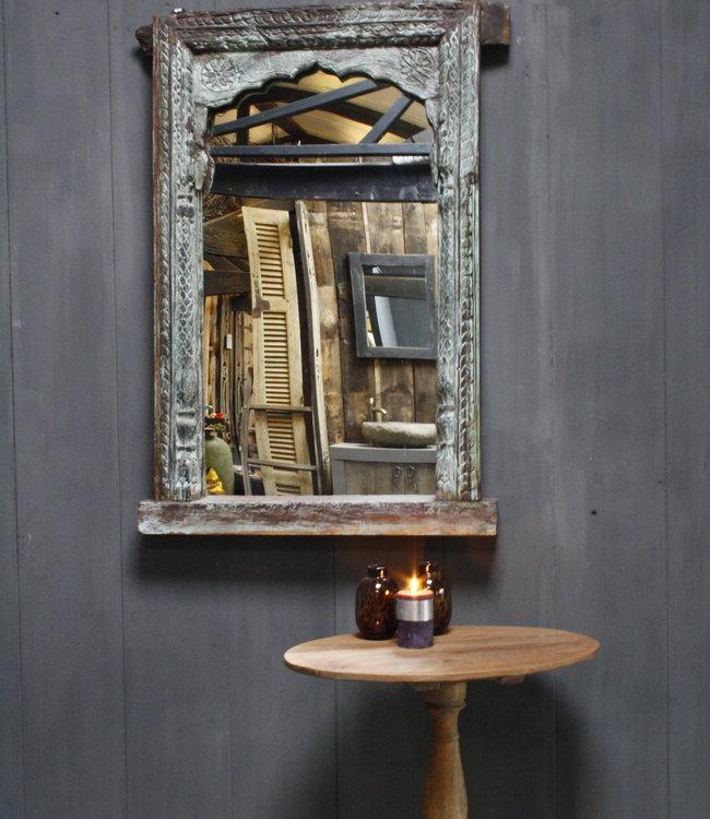 Rene Houtman Oud Indische Spiegel | Oud Hout | Snijwerk | 120 cm