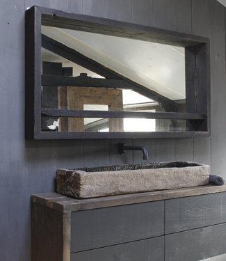 Rene Houtman Ot Oud Houten Spiegel Zwart L165 x H87xD14 cm