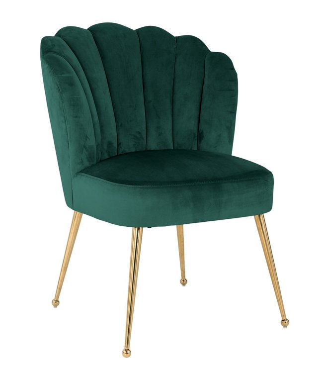 Richmond Richmond - Stoel Pippa Green velvet / gold