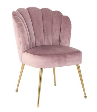 Richmond Richmond - Stoel Pippa Pink velvet / gold