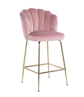 Richmond Richmond Barstoel Pippa - Pink Velvet