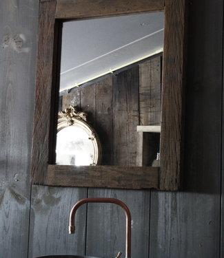 Rene Houtman Toilet Spiegel 65x55x3 cm Oud Teak Hout