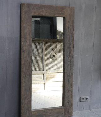 Rene Houtman Oud Houten Spiegel Roug 160x80 cm Grey