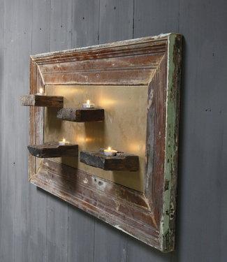 Rene Houtman Wandpaneel Wabi-Sabi Oud Hout L106xH57 cm