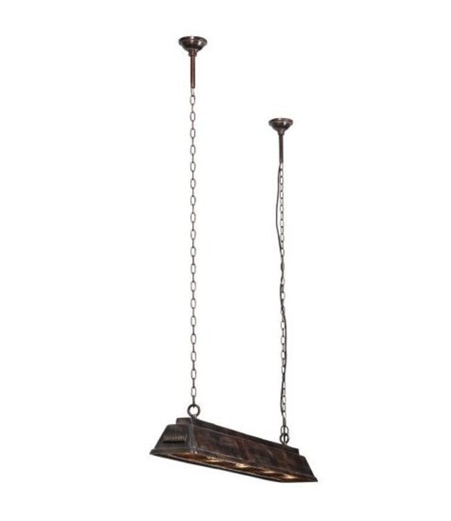 Frezoli Bizz Hanglamp Small Zwart/bruine Finish - L130 cm