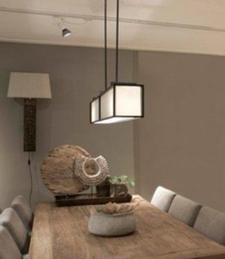 Frezoli Hogenas Hanglamp Mat Zwart - L140 cm