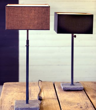 Frezoli Hardstenen Tafellamp Loodkleur