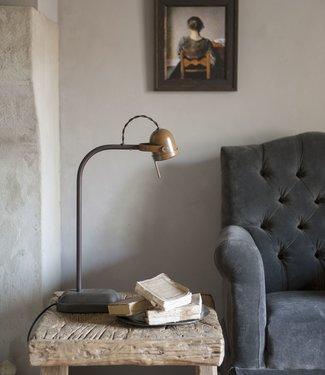 Frezoli Spezia Tafellamp Bruin Patina - H45 cm
