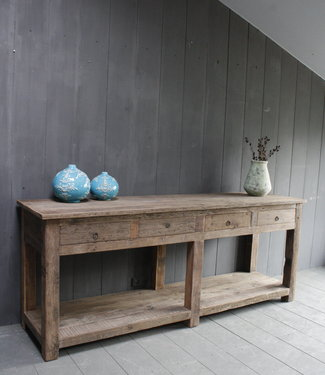 Rene Houtman Sidetable Bassano oud hout met lades 226 x 60 x 90