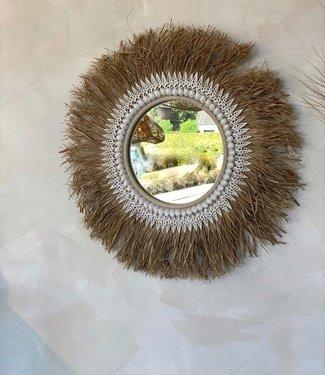 Bazar Bizar The Raffia Ginger Mirror - Naturel - 75 cm