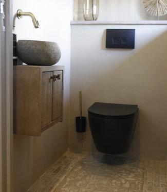 Rene Houtman Zwevend Toiletmeubel Eiken Deurtjes Nouru L39 cm