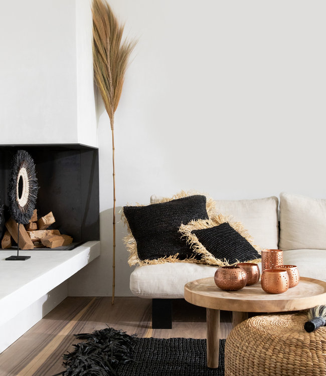 Bazar Bizar The Fringed Carpet - Zwart - 200x300 cm