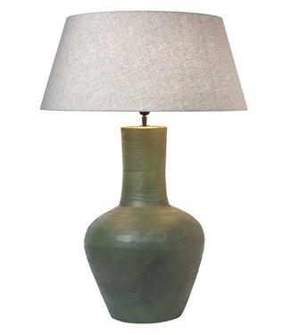 Frezoli Pizzoli Tafellamp - Oud Groen - H55 cm
