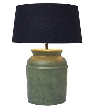 Frezoli Strado Tafellamp - Oud Groen - H39 cm