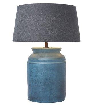 Frezoli Strado Tafellamp - Oud Blauw - H39 cm