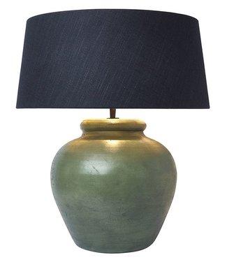 Frezoli Fani Tafellamp - Oud Groen - H35 cm