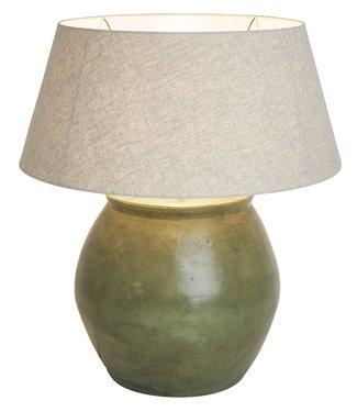 Frezoli Disio Tafellamp - Oud Groen - H36 cm