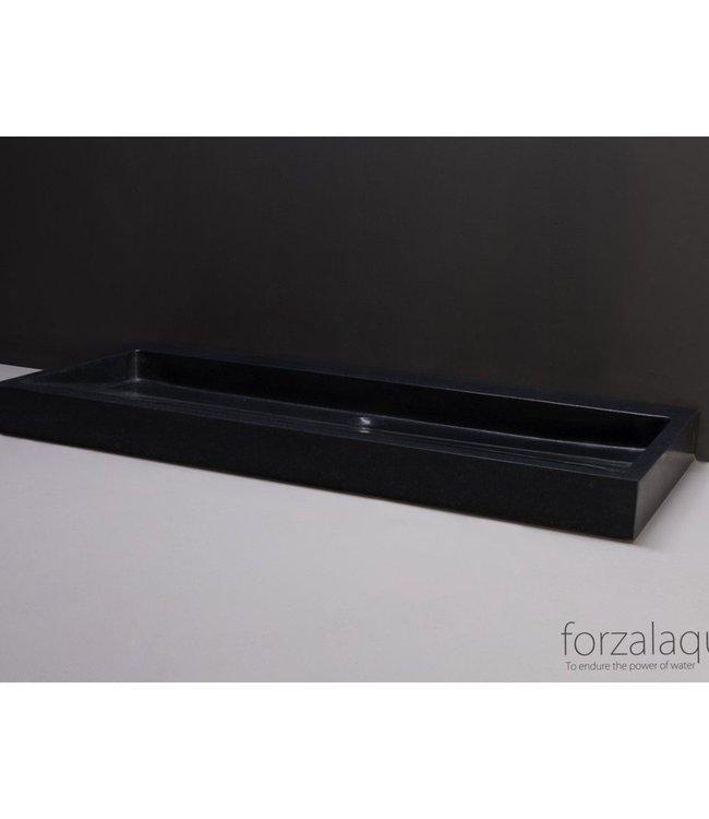 Forzalaqua Wastafel Palermo 100.5x51.5x9cm Graniet Gezoet