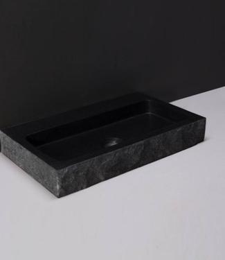 Forzalaqua Wastafel Taranto Graniet & Gezoet Gekapt 50x30x8 cm