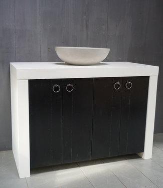 Badkamermeubel Bram Hout Zwart-Wit