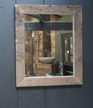 Rene Houtman Spiegel Oud Hout Wagondelen 65 x 55 cm