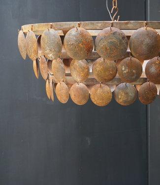 Rene Houtman Hanglamp Schijfjeslamp Ijzer Roest L70xH24 cm