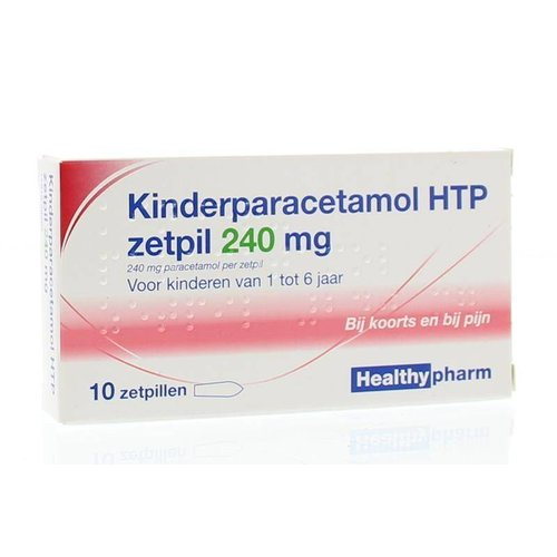 Healthypharm Healthypharm Paracetamol kinderen 240 mg (10zp)