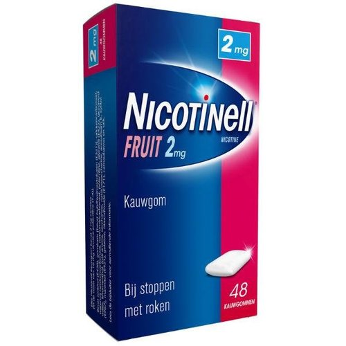 Nicotinell Nicotinell Kauwgom fruit 2 mg (48st)