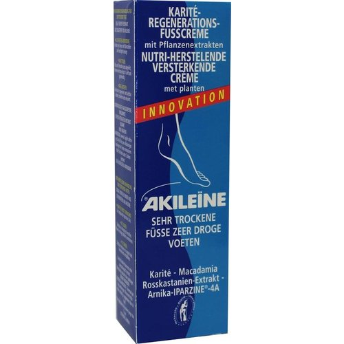 Akileine Droge voeten creme blauw (50ml)