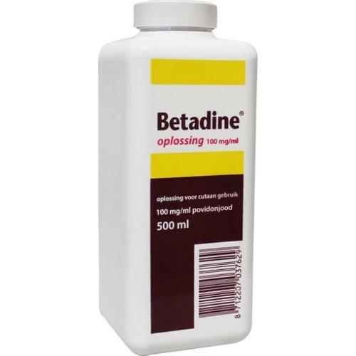 Betadine Betadine Jodium oplossing 100 mg/ml (500ml)