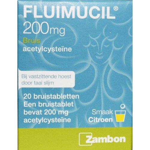 Fluimucil Fluimucil Fluimucil 200 mg suikervrij (20brt)