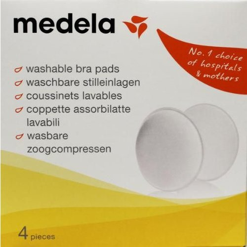 Medela Medela Zoogcompressen wasbaar (4st)