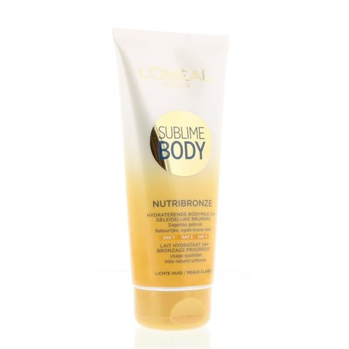 L'Oreal Loreal Body expertise nutribronze bodymilk lichte huid (200ml)