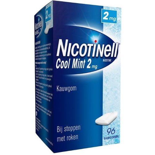 Nicotinell Nicotinell Kauwgom coolmint 2 mg (96st)